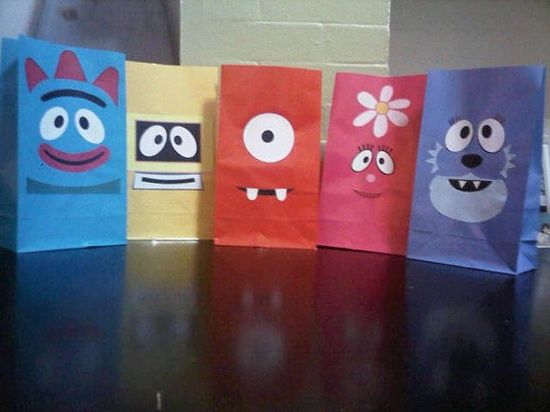 Gabba Gabba grab bag idea... easy DIY