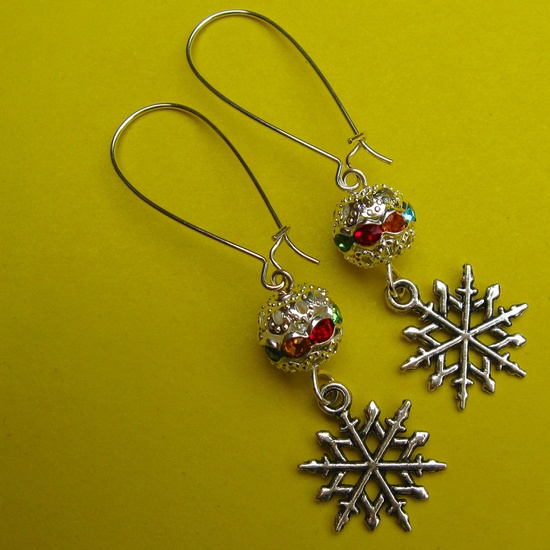 WINTER IS COMING earrings on French wires. $9.00.  Love these.  :)