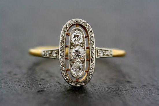 Art Deco Ring   Antique Diamond Art Deco 18ct by AlistirWoodTait, £1950.00