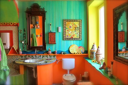 #bohemian bathroom
