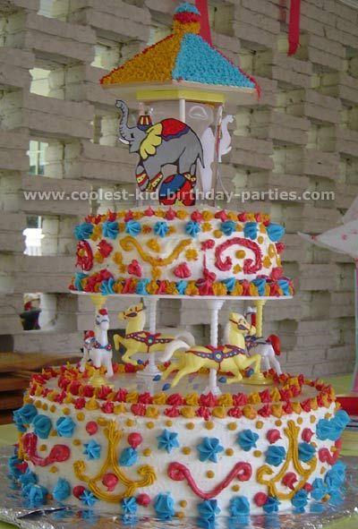 Carousel birthday cake.