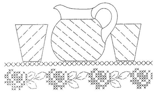 H 2-S b #Kitchen #shelf #embroidery