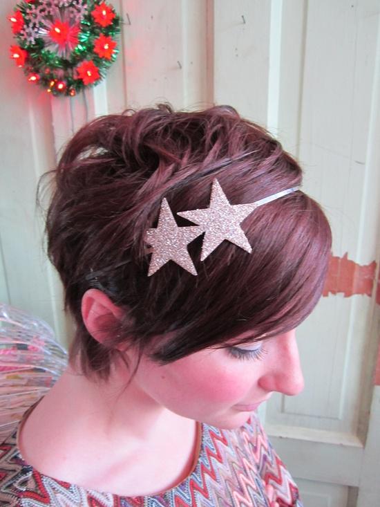 two glitter stars headband. daintydaisies on etsy
