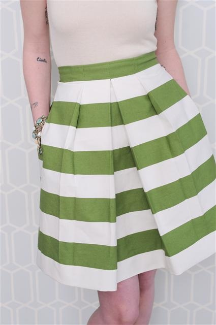 more stripes and pleats. love.