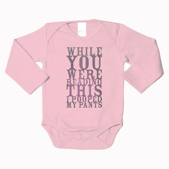 """Pooped My Pants"" Bodysuit #shower #gift #baby"