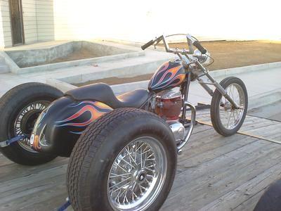 1971 BSA Custom Trike Motorcycle for Sale; Classic BSA Rat Rod Style