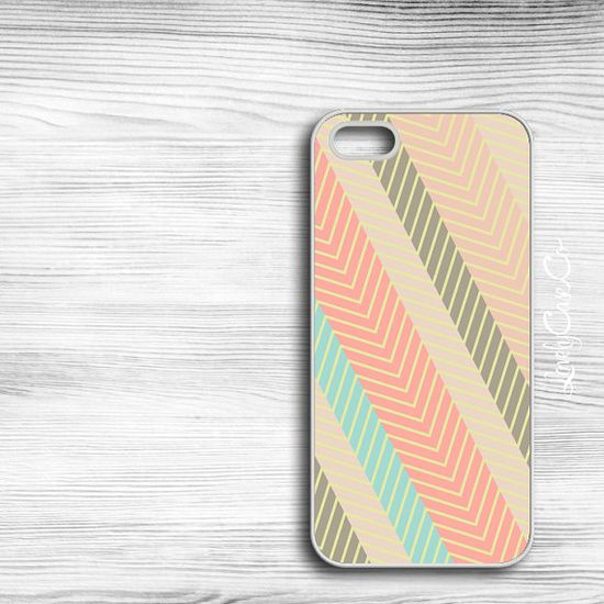 Pale Pink Striped Chevron iPhone Case  iPhone 4 by LovelyCaseCo, $18.00
