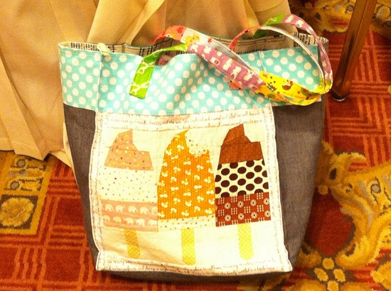 Handmade ice cream bag
