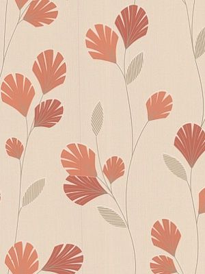 Graham & Brown Wallpaper Sarah: Orange Wallpaper $60.00 per 11 yard roll #interiors #decor #diningroomideas