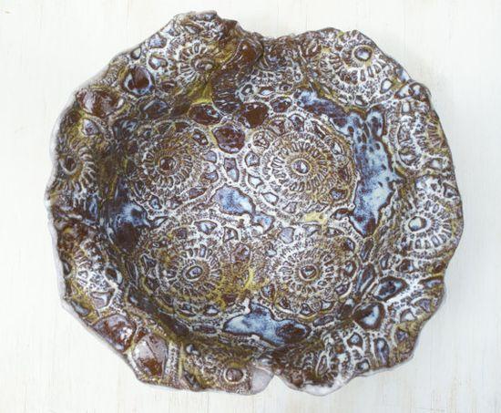 ceramic bowl textured stoneware serving bowl decorative handmade #handmade rugs #handmade knives #nwa express yourself #handmade dovetail #oyin handmade