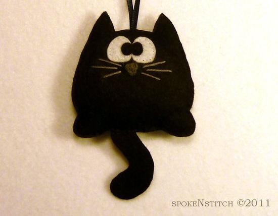 Felt Black Kitty #cat #kitten #kitty #felt #DIY