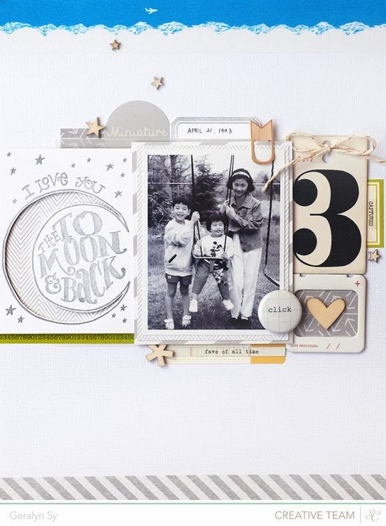 LOVE LOVE LOVE this layout by @Geralyn S #letterpress #scrapbook #scrapbooking