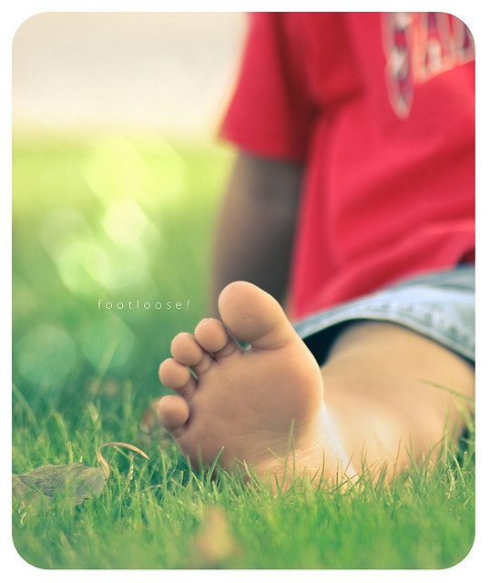 barefoot at last...