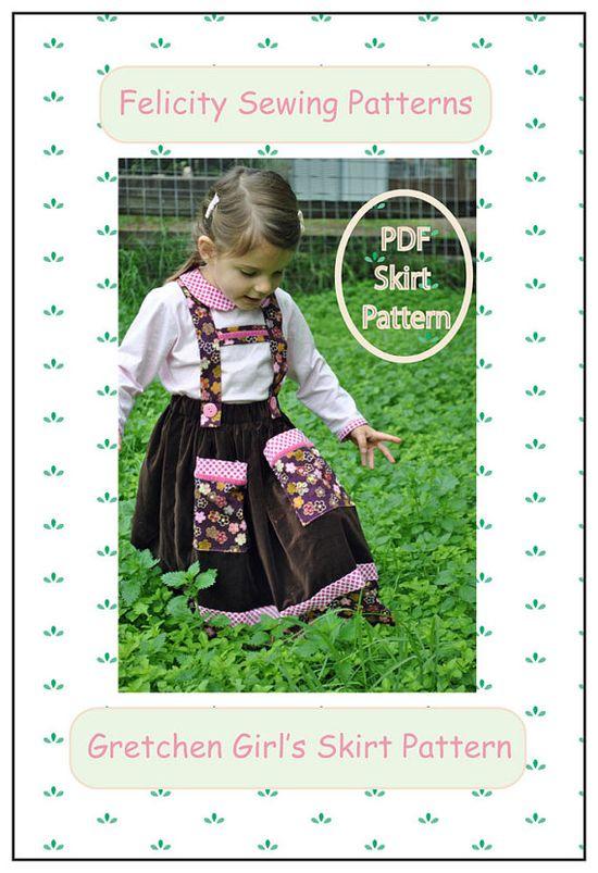 Gretchen Girl's Skirt Pattern. Toddler's Skirt by FelicityPatterns, $7.95