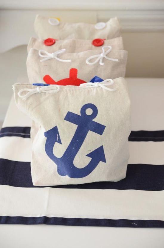 LOVE this nautical party via Kara's Party Ideas! karaspartyideas.com #nautical #sailboat #party #favors #ideas