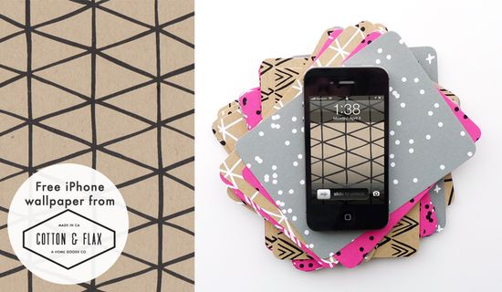 FREE Patterned iPhone Wallpaper