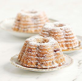 Cranberry and Almond Bundt Cakes