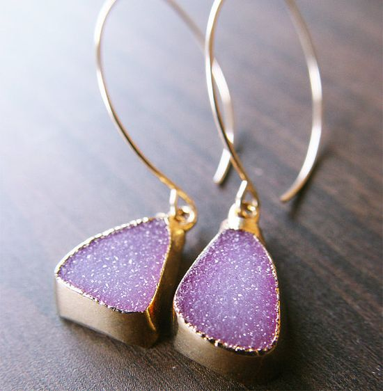 pretty pink and gold earrings