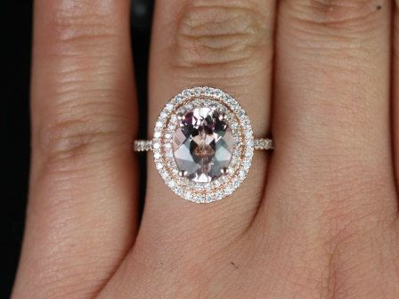 Oval double halo #engagementring