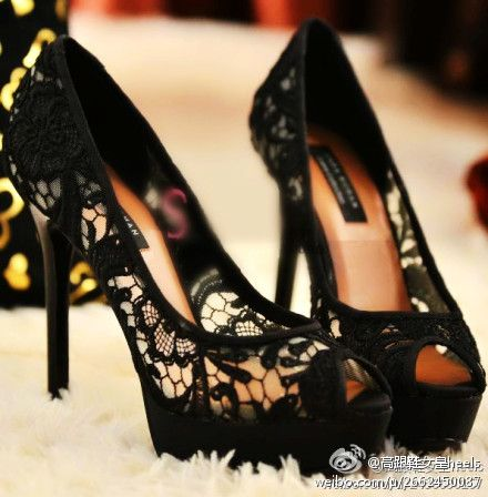 Love love live these lace heels!