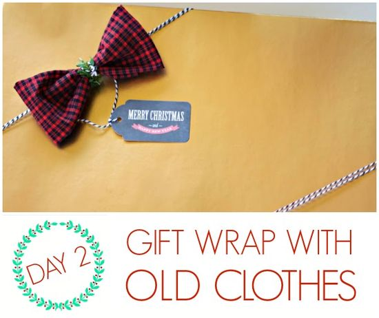 DIY Gift wrap ideas with old clothes..!