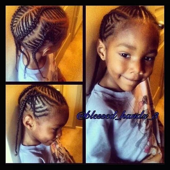 Super cute natural hair style for little girls