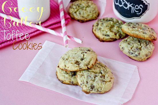 Gooey Butter Toffee Cookies