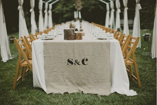 burlap wedding inspiration
