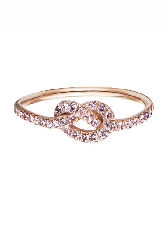 Pink Diamond Love Knot Ring