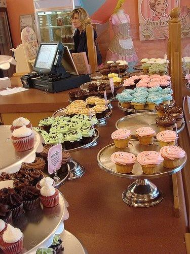 Cupcake bakery store.