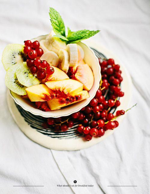 {Fresh fruit.}