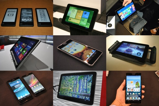 The Best Phones and Tablets at CES 2013.