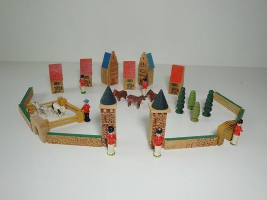 Vintage East German Toy Town Set