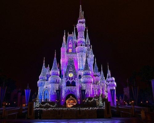 cinderella's castle at Christmas  it is magical