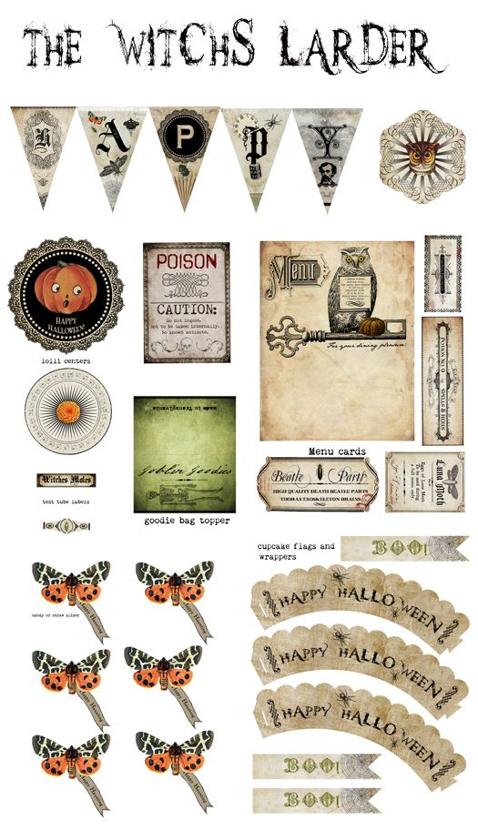 Cool Printables for making Halloween decorations.