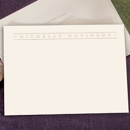 Embossed Graphics Banner Card Correspondence Set ($34.95 for 50)