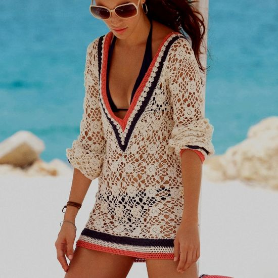 Crochet swim suit cover up!!