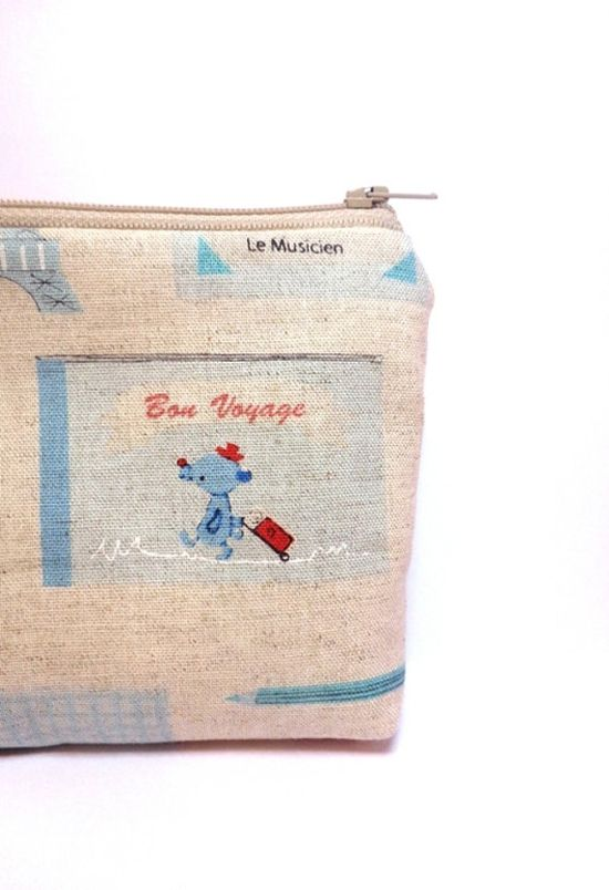Small Zipper Pouch Coin Purse Small Wallet by handjstarcreations, $10.00
