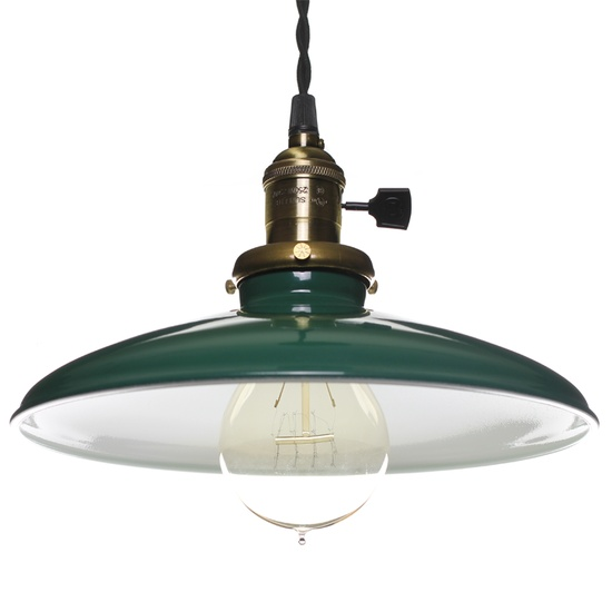 Enamel Pendant Light - Green