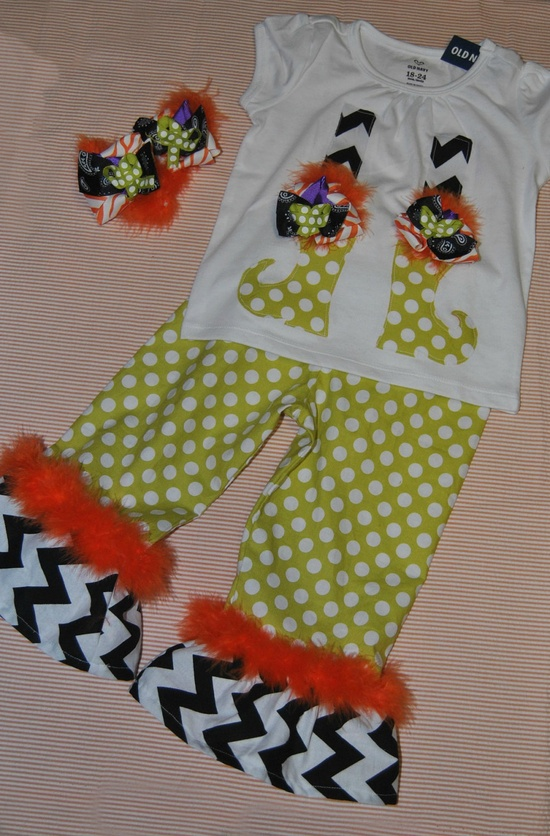witch applique outfit