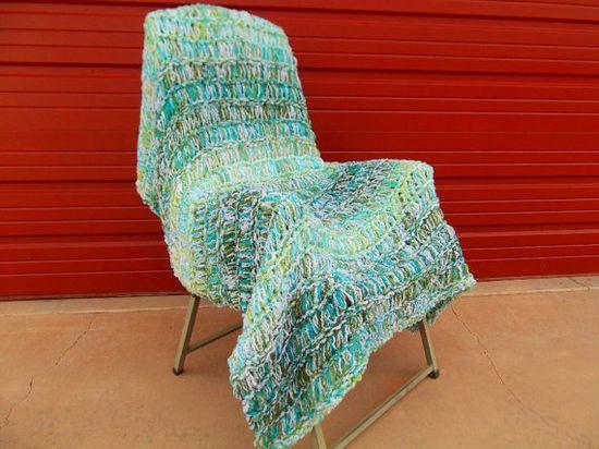 Fresh Spring Throw Blanket Home Decor Accent, Handmade by CricketsHome,