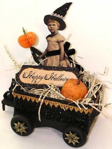 Halloween Witch Wagon