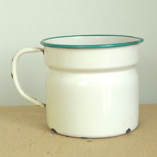 French enamelware milk jug.