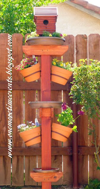DIY Birdhouse, bird feeder, bird bath all in one