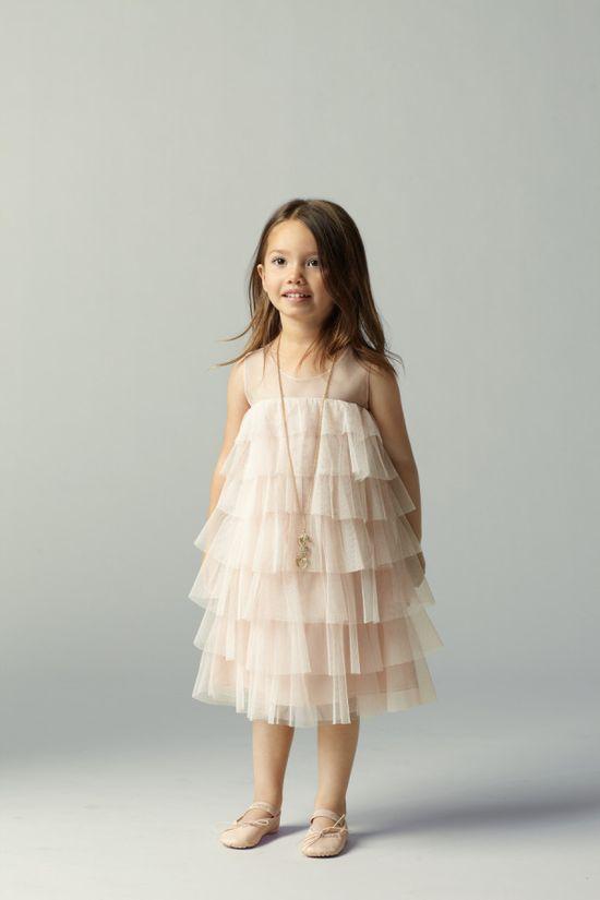 tiered ruffle flower girl dress by watters.com