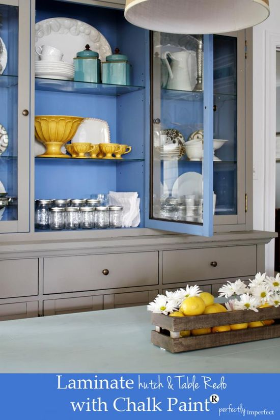 Laminate Hutch & Table Redo with Chalk Paint