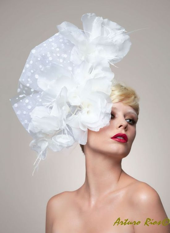 Catalina Bridal Couture Headpiece Also on Black by ArturoRios, $198.00