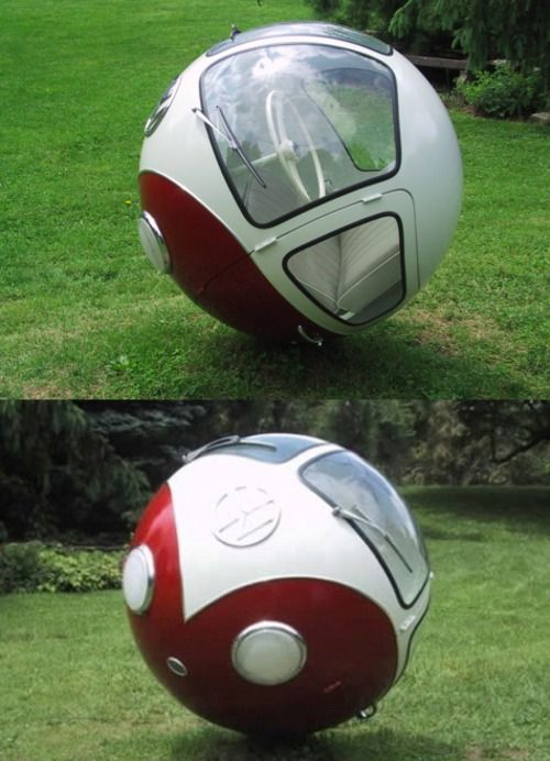 Volkswagen Ball - is it for real or just a concept compact car of the future? Cool!  Please Like,Pin,or Comment. Thanks.  j.gs/100549/cars