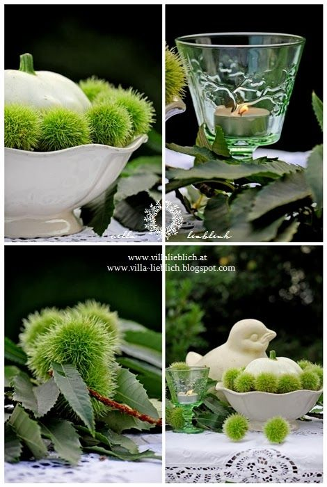 #autumn #chestnut #garden #decoration #pumpkin #bowl