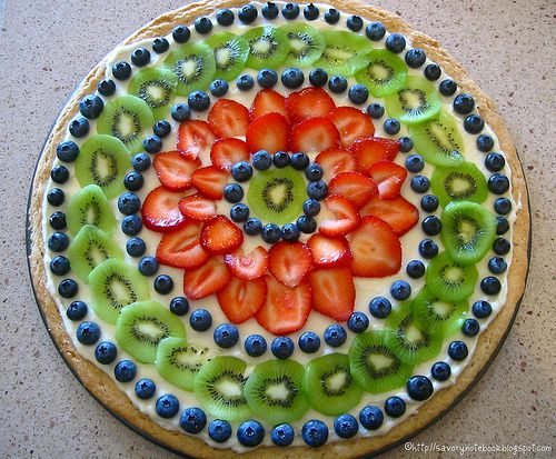 Fruit Tart Pizza - almost too pretty to eat